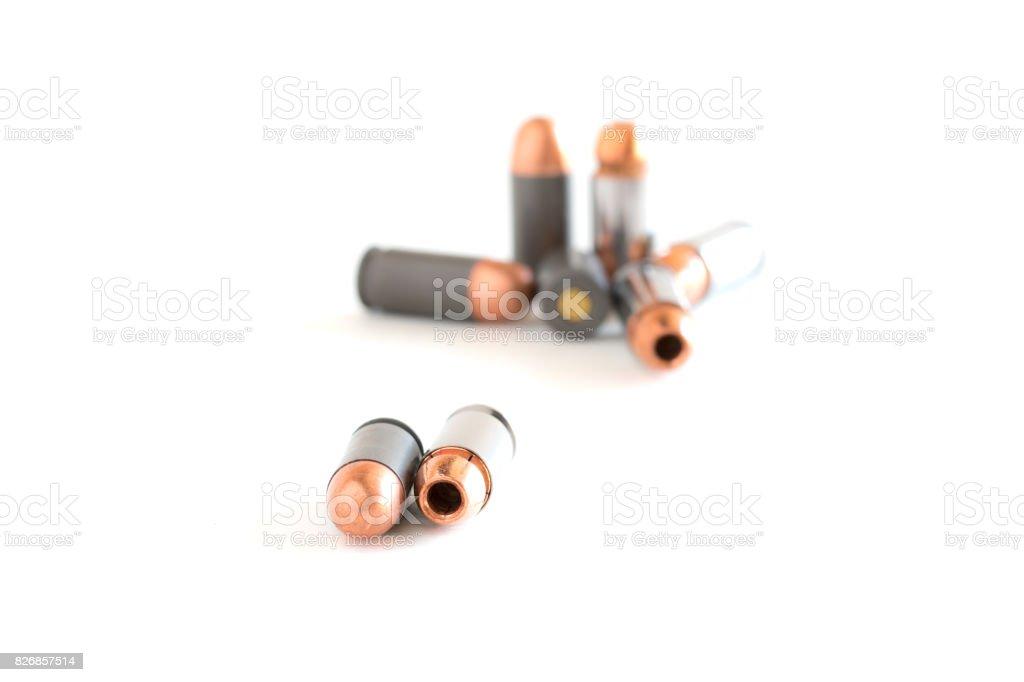 .45 Pistol bullets . stock photo