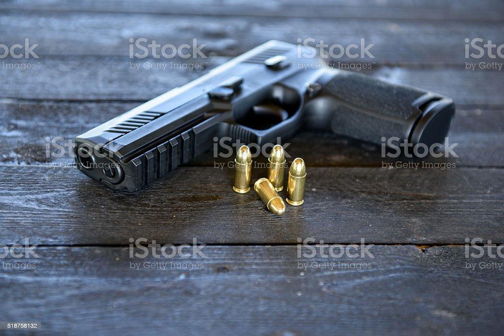 Pistola, arma de mano - foto de stock