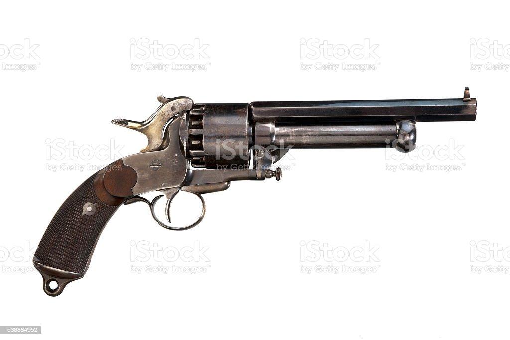 Pistol original revolver - foto de stock