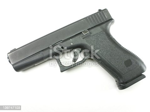 A Glock 22 .40 SW handgun. It was used in a police department, and sold at their department auction.