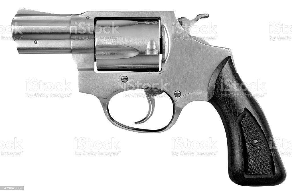 Pistola revólver arma de fuego pistola aislado sobre fondo blanco - foto de stock