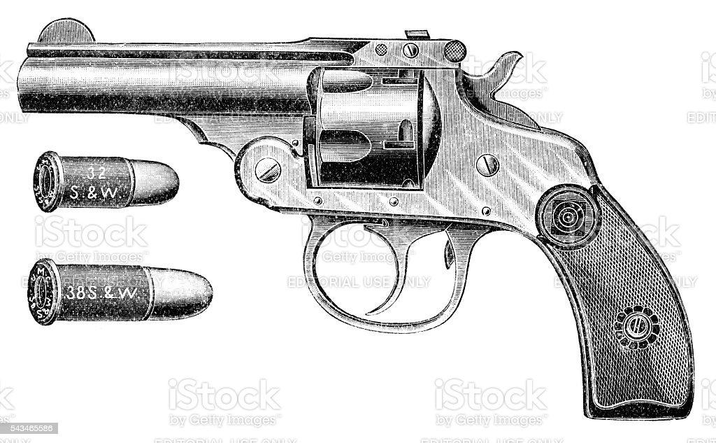 Pistol smith & wesson stock photo