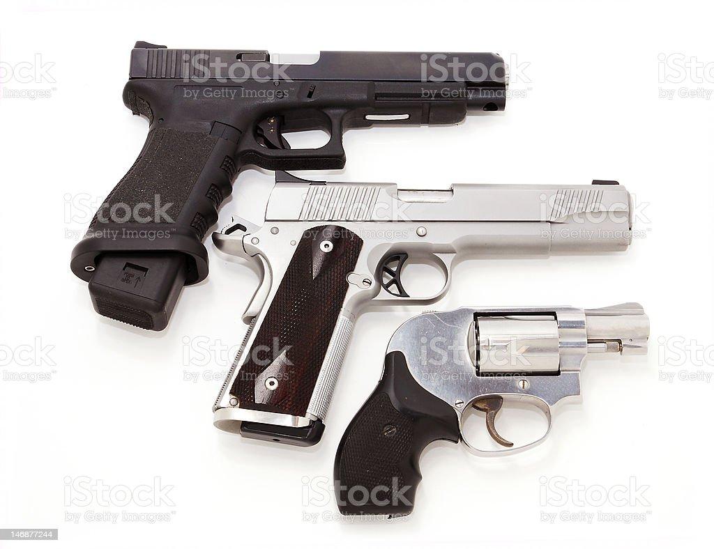 Pistols stock photo