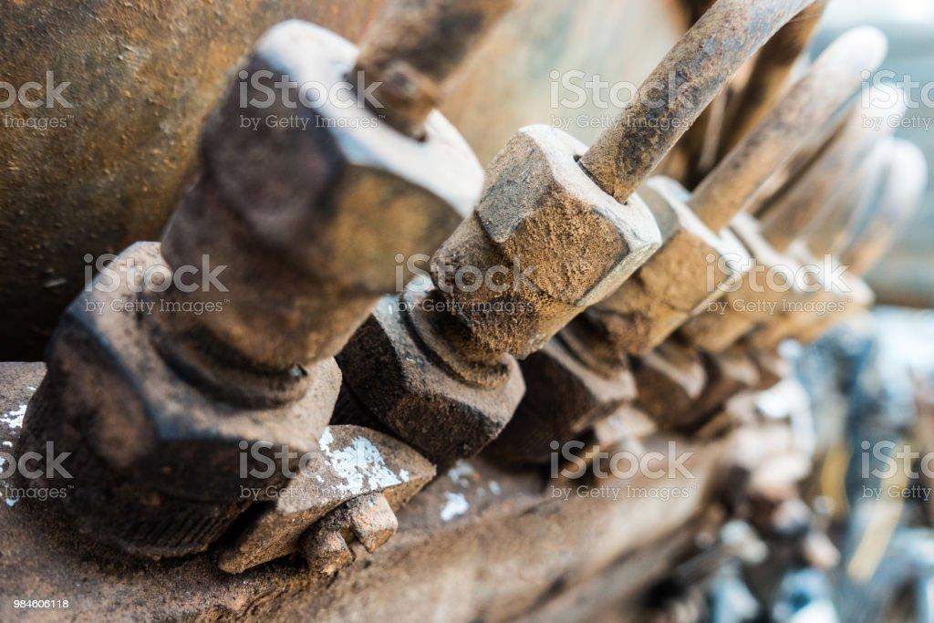 Pistón del motor diesel generador electrico - foto de stock