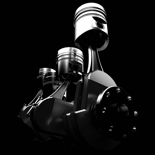 Pistons 3D illustration of car engine piston stock pictures, royalty-free photos & images