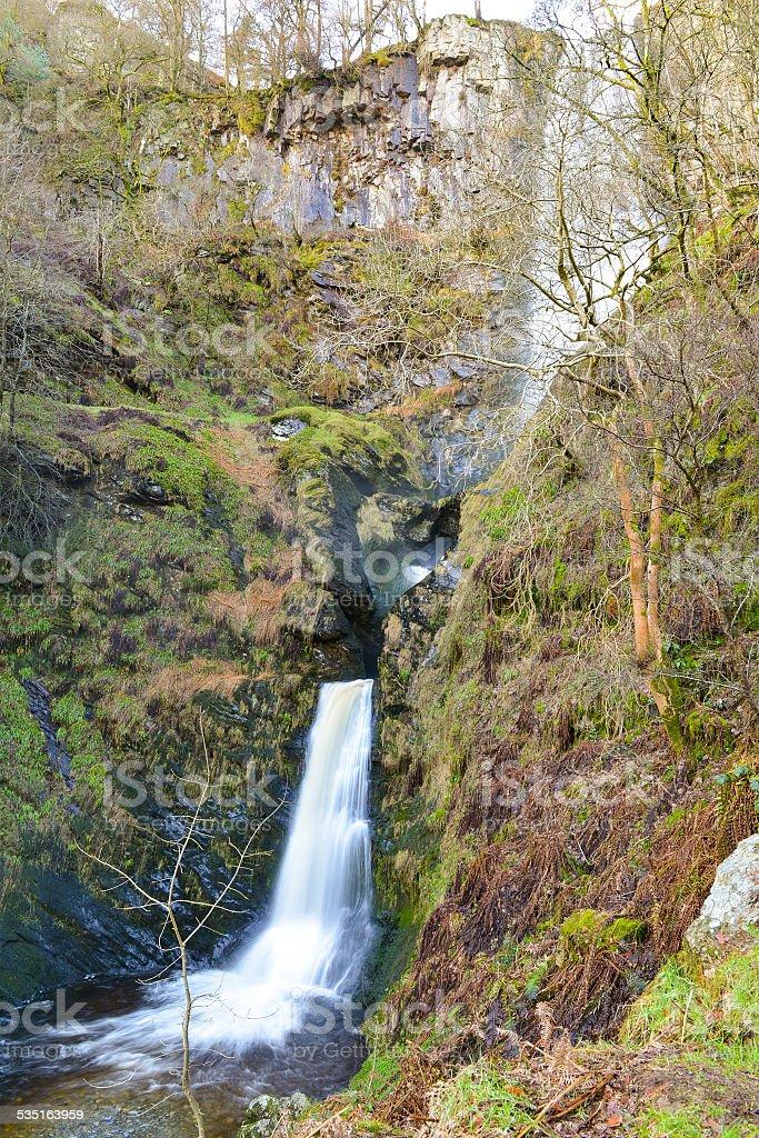 Pistyll Rhaeadr Waterfall, Wales stock photo