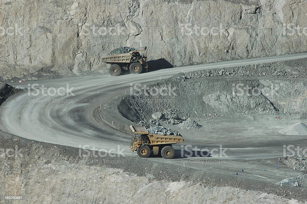 Pit Mining stock photo