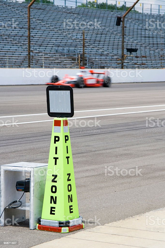 Pit zone stock photo