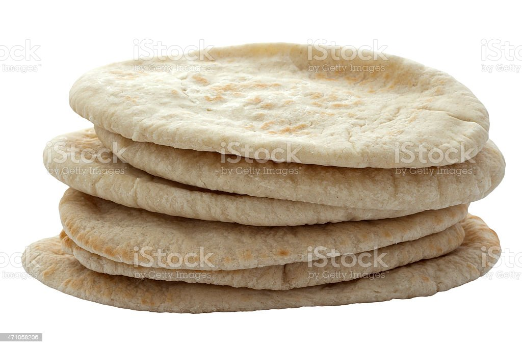Pita Breads in a Pile stock photo