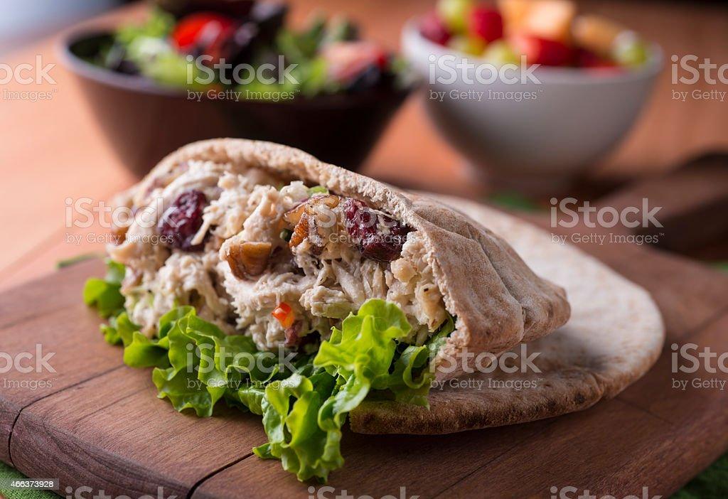 Pita Chicken Salad stock photo