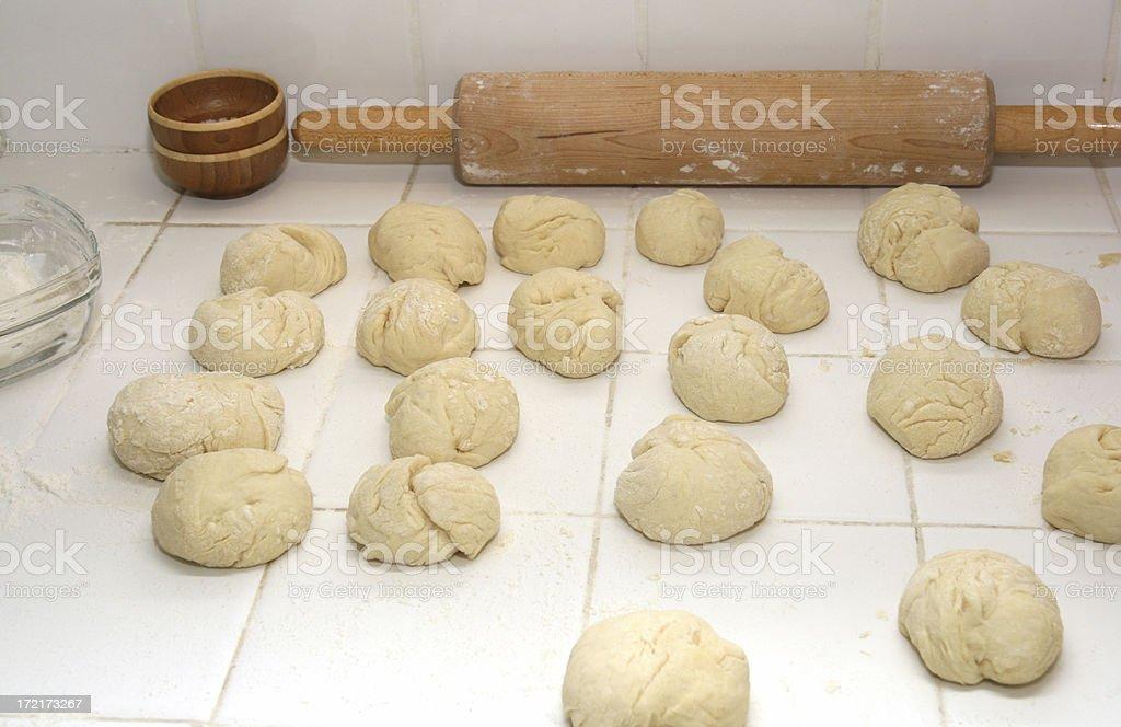 Pita Dough Balls royalty-free stock photo