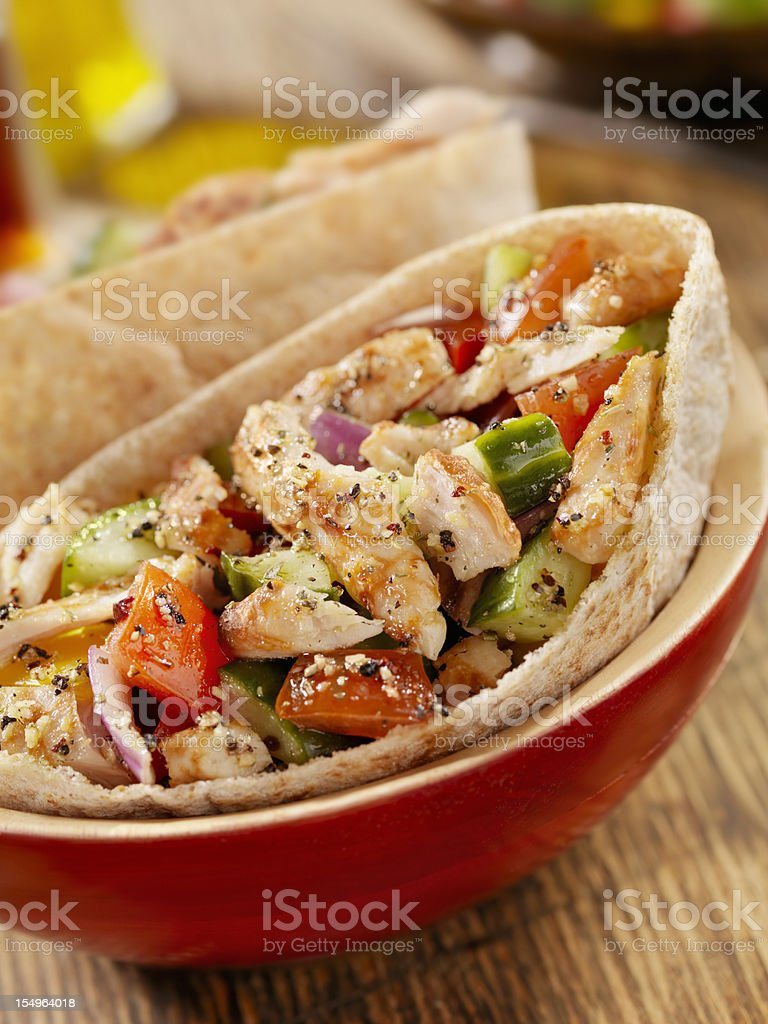 Pita Pocket with Grilled Chicken royalty-free stock photo