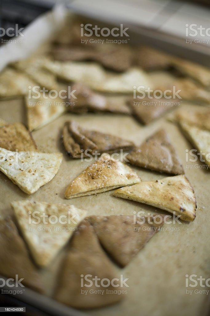 Pita slices stock photo