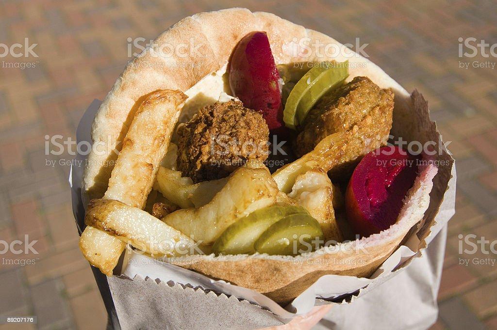 Pita with falafel. stock photo