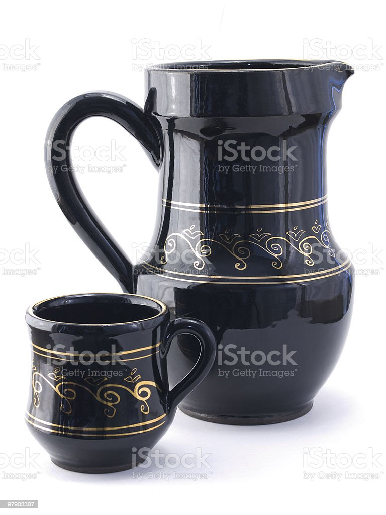 Pitcher and mug royalty-free stock photo