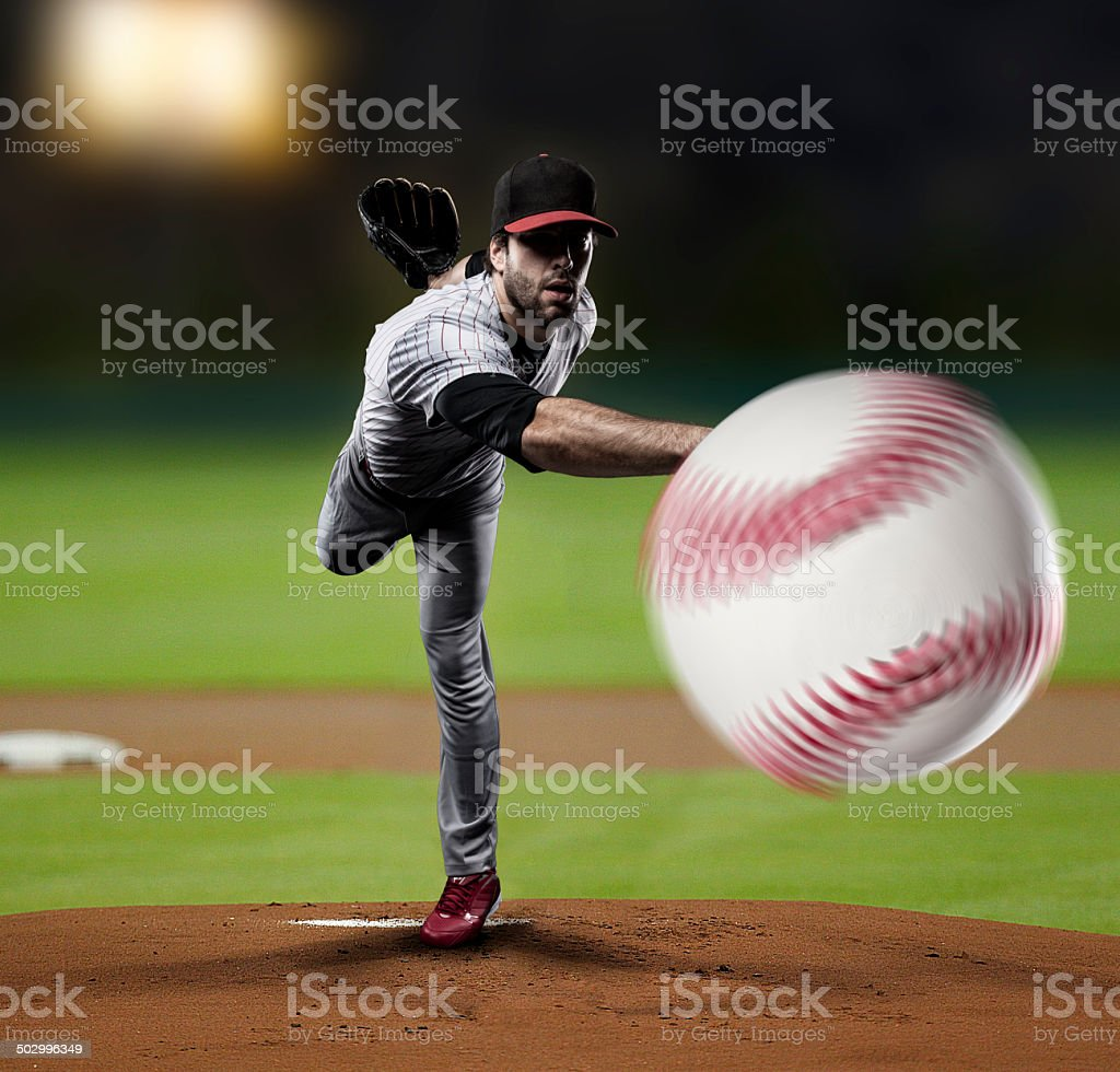 Pitcher Baseball Player stock photo