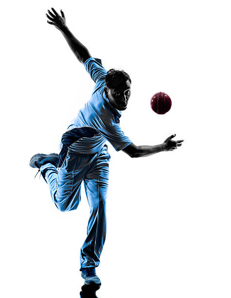 silhouette de Baseball-Joueur de Cricket - Photo