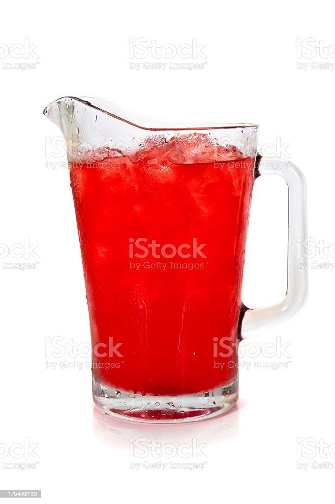 Pitcher full of refreshing fruit punch stock photo