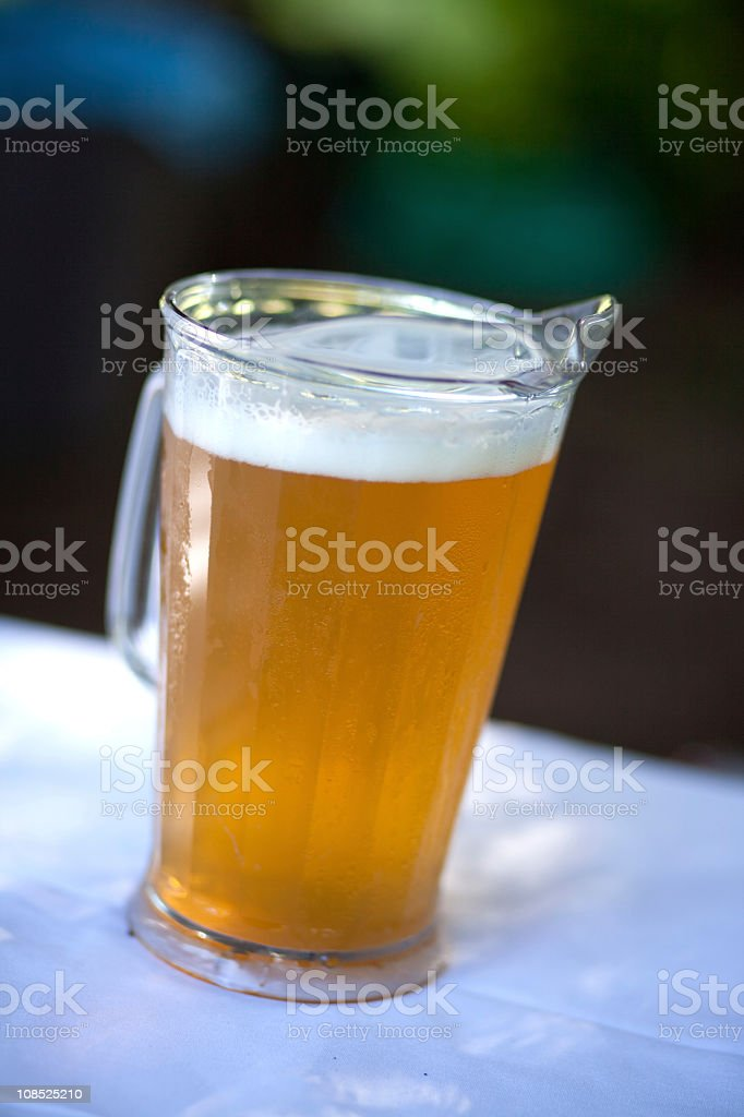 Pitcher of beer stock photo