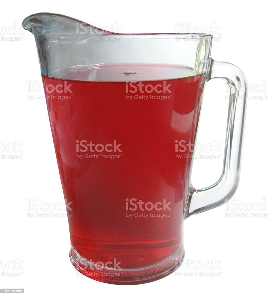 Pitcher of Red royalty-free stock photo