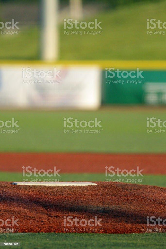 Pitchers mound royalty-free stock photo