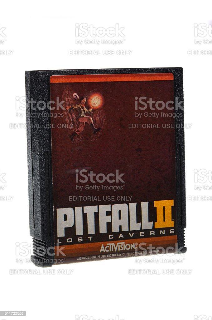 Pitfall II Lost Caverns 2600 Game Cartridge stock photo