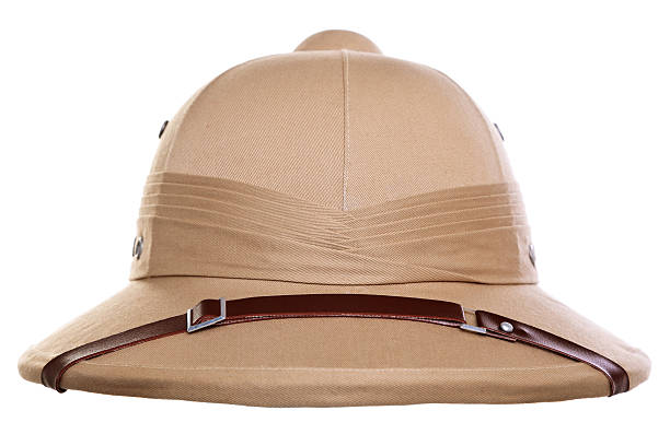 Pith helmet cut out stock photo
