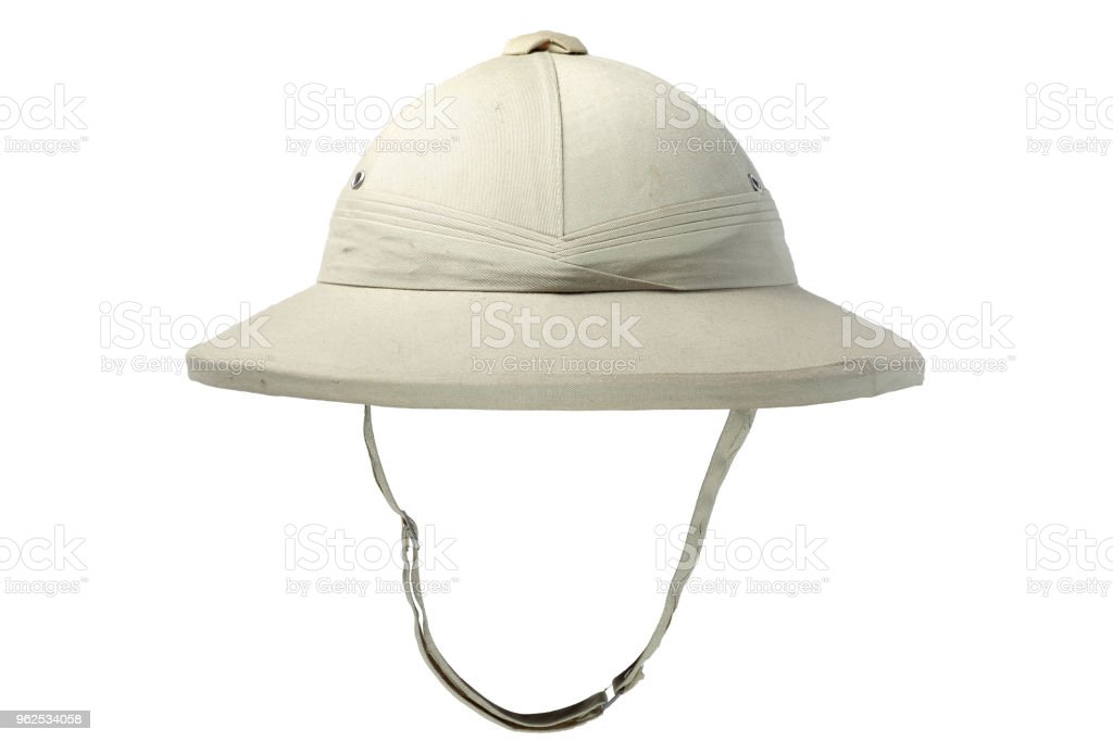 d2ed0f0e0 Pith Helmet Isolated On White Background Stock Photo - Download ...