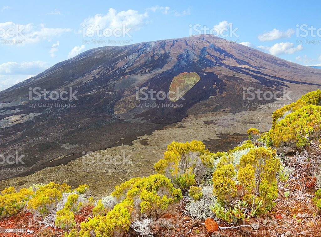 Piton de la Fournaise (Peak of the Furnace). stock photo