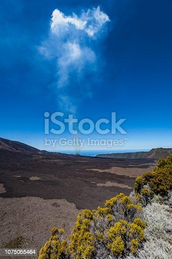 istock piton de la fournaise volcano eruption, reunion island 1075055464