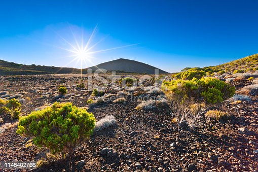 Piton de la fournaise , reunion island, volcano landscape