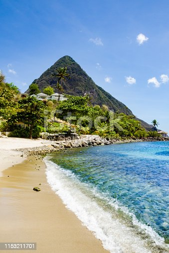 A beautiful landscape of the famous Pitons in St. Lucia