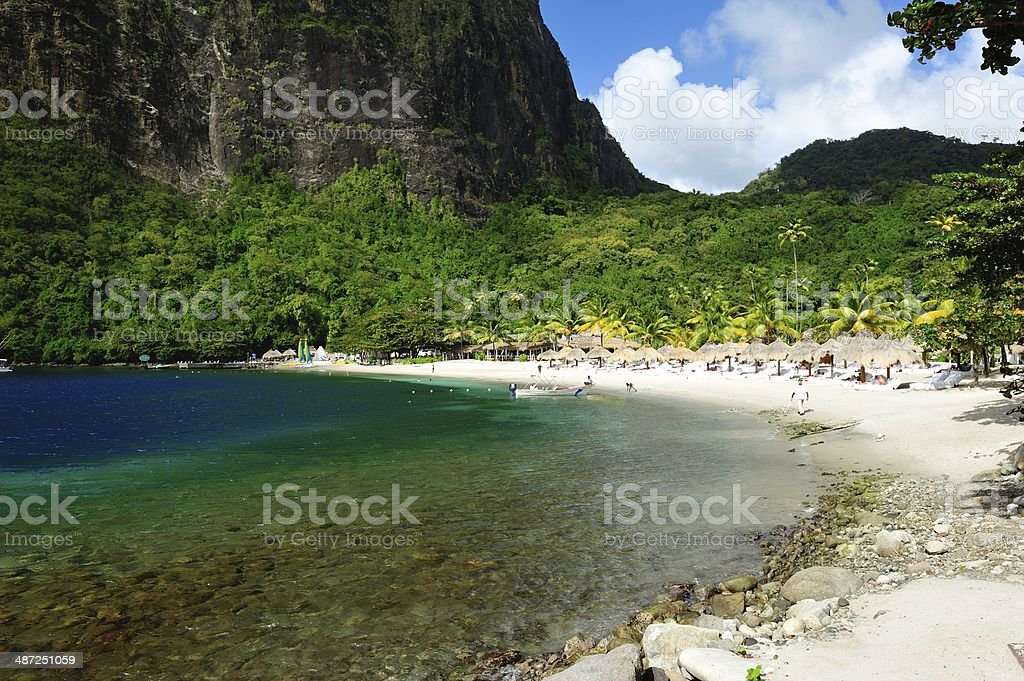 Pitons Bay St. Lucia royalty-free stock photo