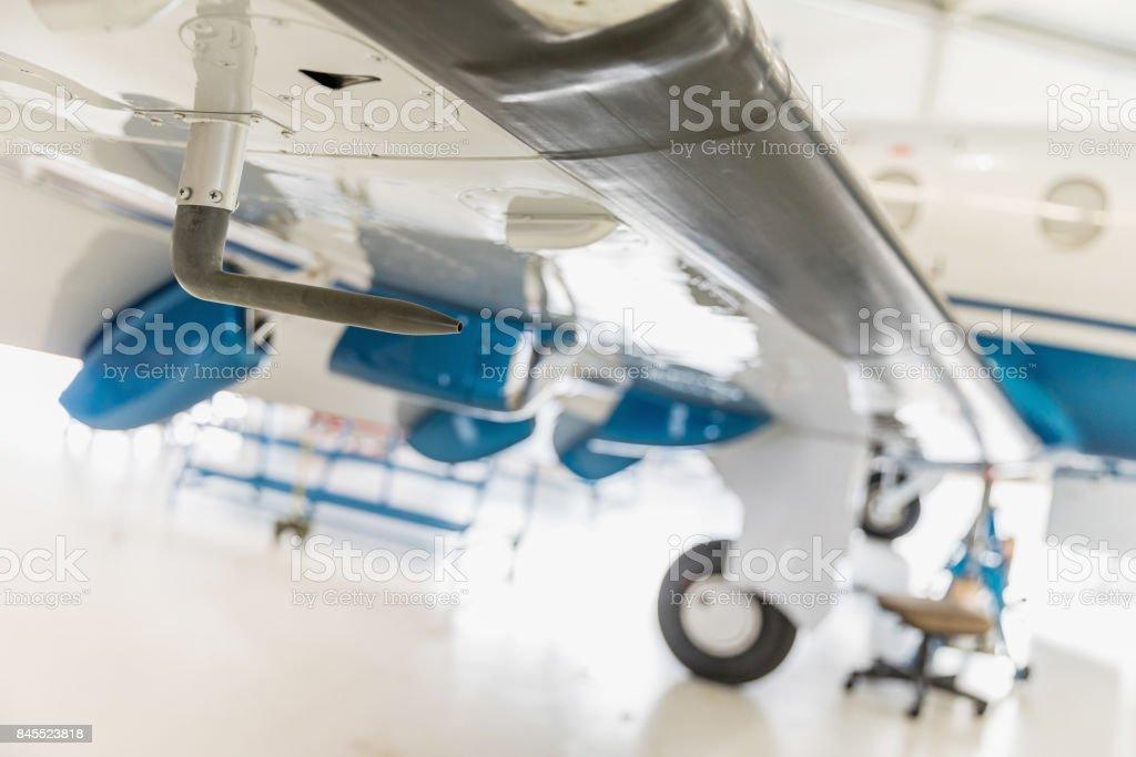 Pitot tube - aircraft part, detail. stock photo