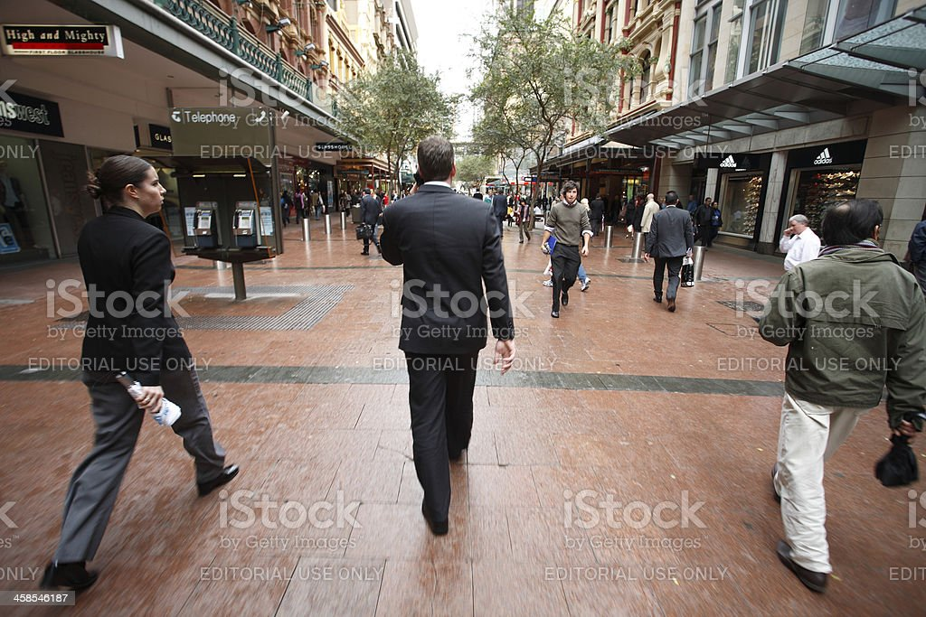 Pitt Street Mall, Sydney, Australia stock photo