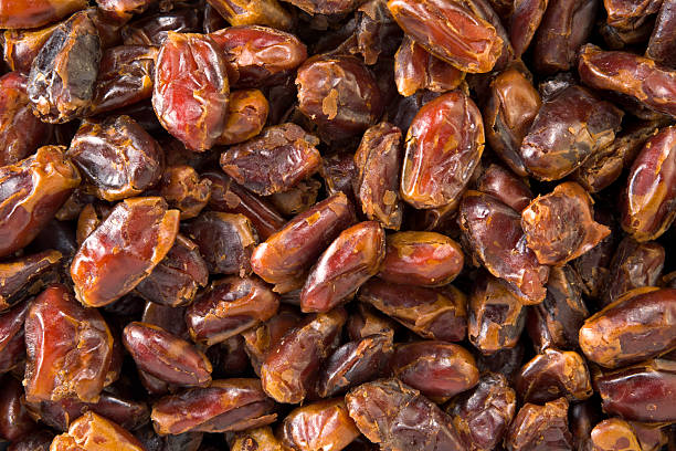 Pitted dates stock photo