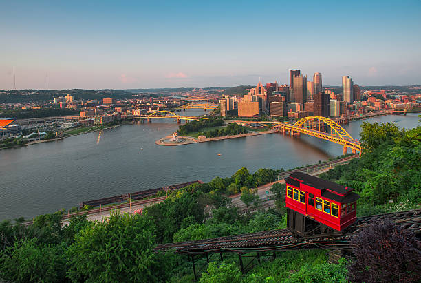 Pittsburg Pittsburg, Pennsylvania, skyline, city, building  pittsburgh bridge stock pictures, royalty-free photos & images