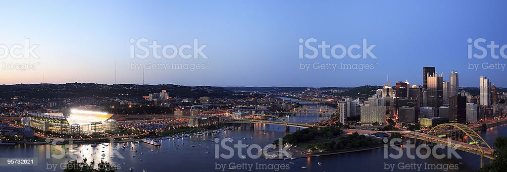Pittsburgh and Heinz Field royalty-free stock photo