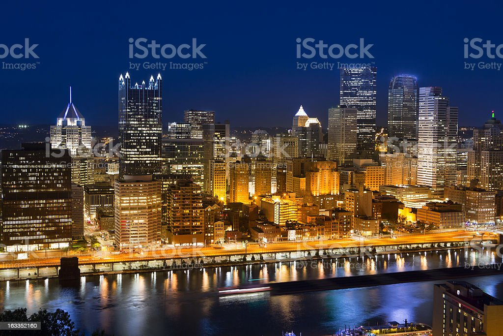 Pittsburgh city center royalty-free stock photo