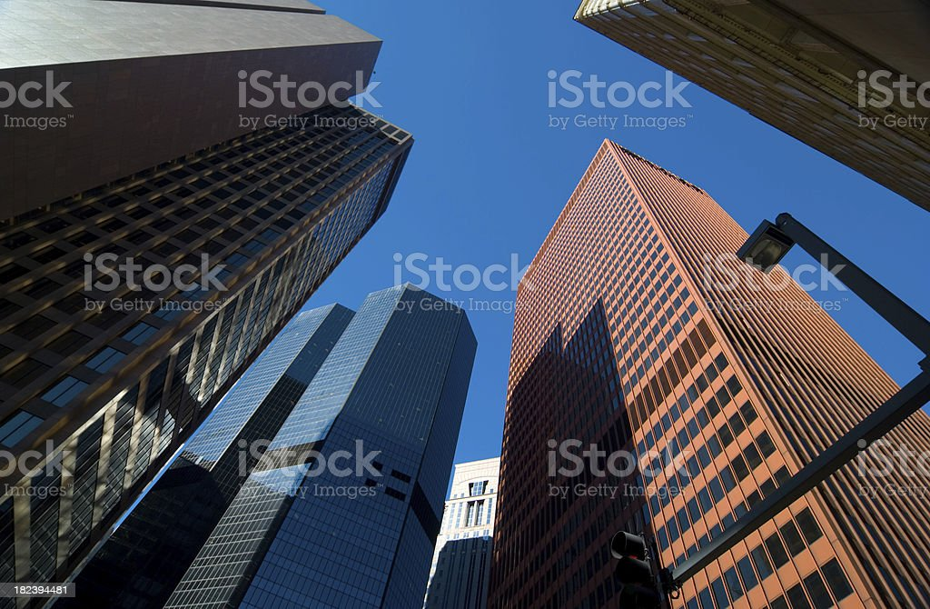 Pittsburgh downtown office buildings royalty-free stock photo