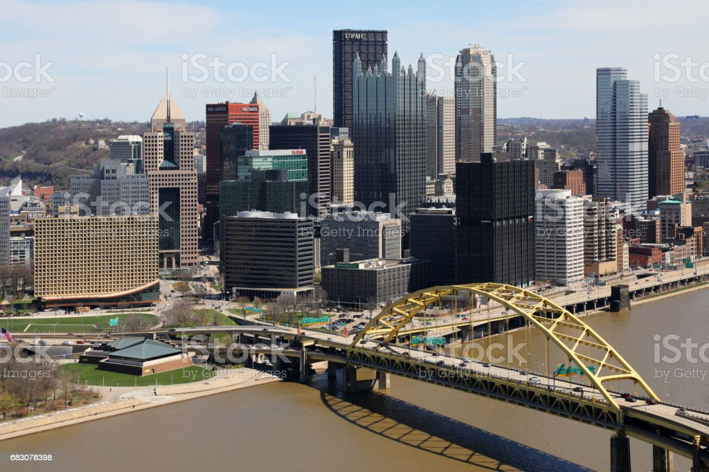 Pittsburgh Downtown Skyline stock photo