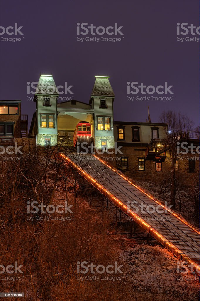 Pittsburgh Duquesne Incline stock photo
