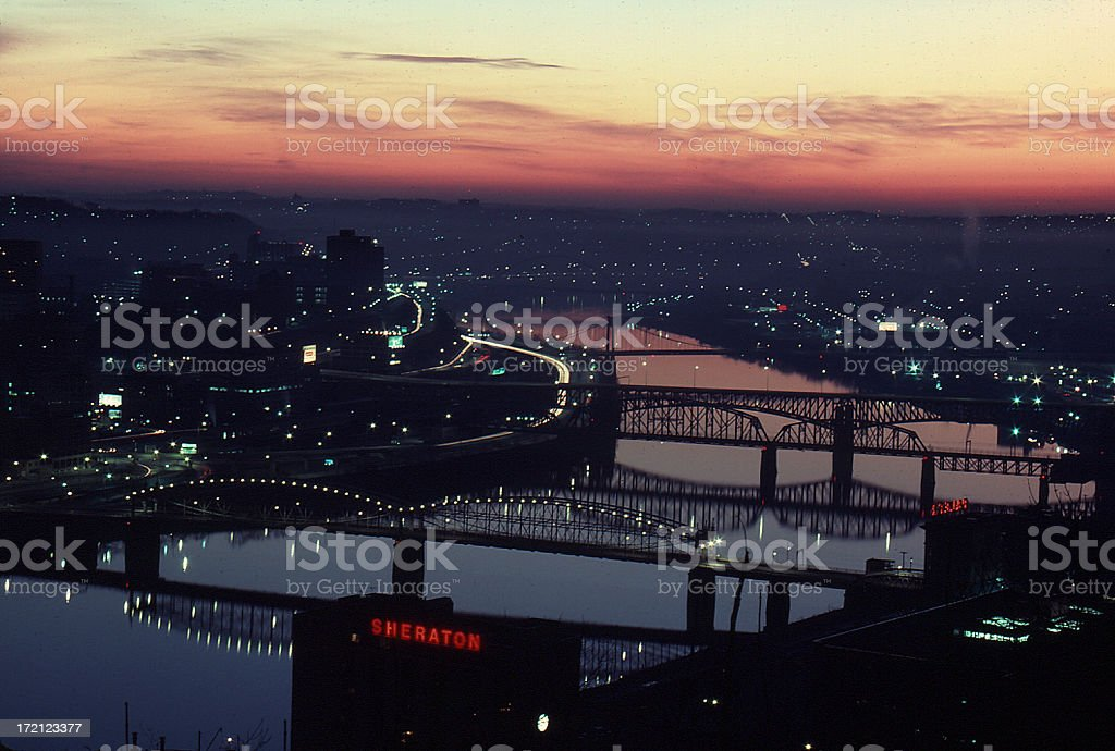 Pittsburgh early morning skyline 2 royalty-free stock photo