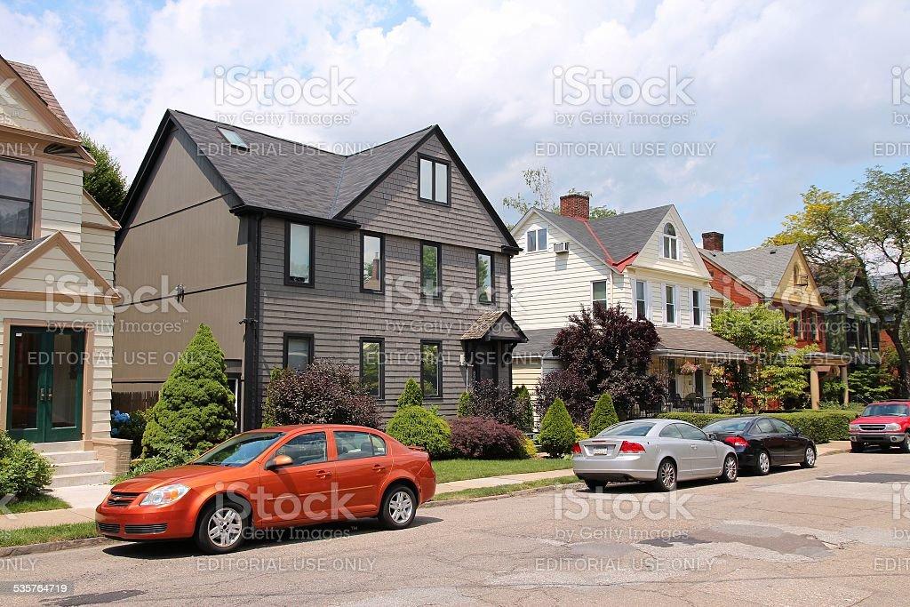 Pittsburgh homes stock photo