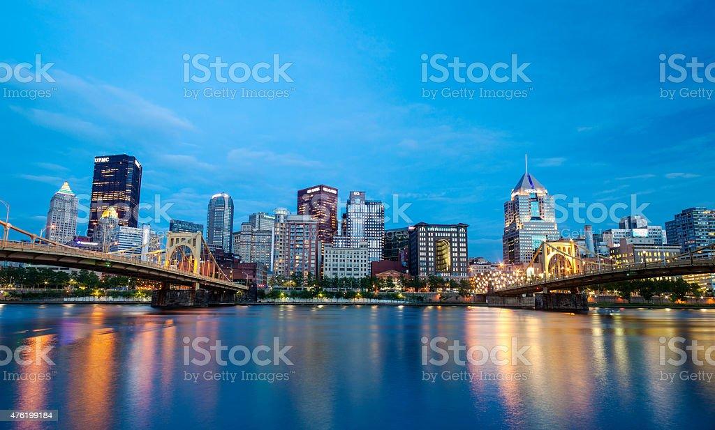 Pittsburgh, Pennsylvania At Night stock photo