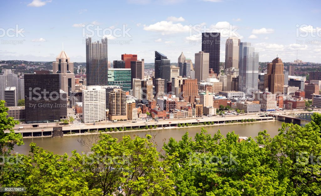 Pittsburgh Pennsylvania Downtown City Skyline stock photo