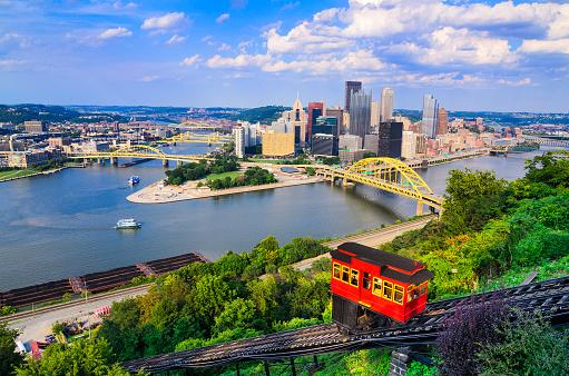 Pittsburgh Pennsylvania Skyline Stock Photo - Download Image Now