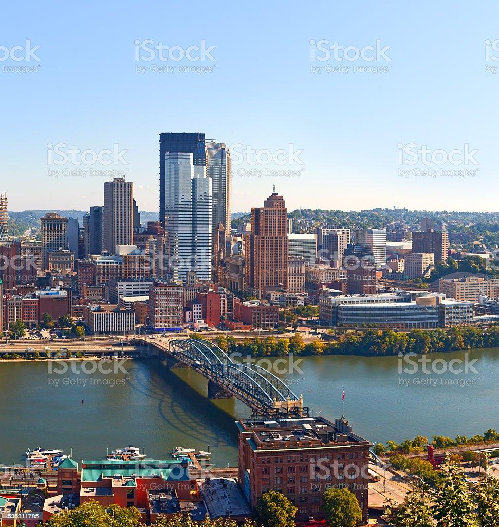 Pittsburgh Pennsylvania USA, skyline panorama stock photo