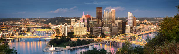 Pittsburgh skyline by night