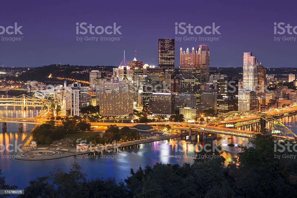 Pittsburgh Skyline royalty-free stock photo